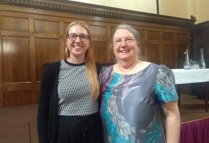 (L-R) Halle Johnson, research projects and coordination assistant and Margaret Ogden.
